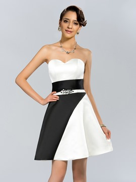Cool Sweetheart Beadings A-Line Short Cocktail Dress
