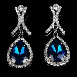 Unique Water-drop Diamante Gemstone Earrings for Women