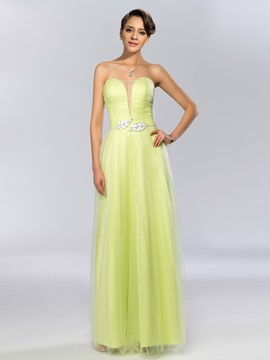 Unique Sweetheart Beading Floor Length Prom Dress