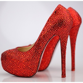 Ericdress Charming Red Crystal Wedding Shoes
