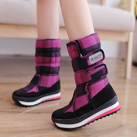 Ericdress Scottish Casual Grid Mid-calf Snow Boots