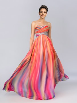 Charming Sweetheart Beading A-Line Prom Dress