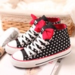 Ericdress Sweet Dots Lace-up Flat with Bowknot