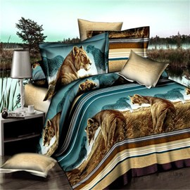 Ericdress Mighty Lion Print 3D Bedding Sets