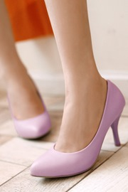 Korean Solid Color Pointed Toe Pumps