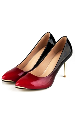 High-quality Color Block Pointed Toe Pumps