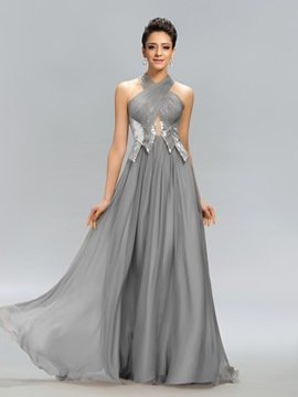 Charming Ruched Sequins A-Line Evening Dress