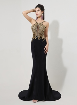 Ericdress Gorgerous Sleeveless Open Back Mermaid Court Train Evening Dress