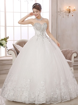 Ericdress Sweetheart Beading Ball Gown Wedding Dress