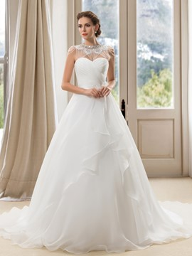 Charming A-Line Sweetheart Tiered Wedding Dress