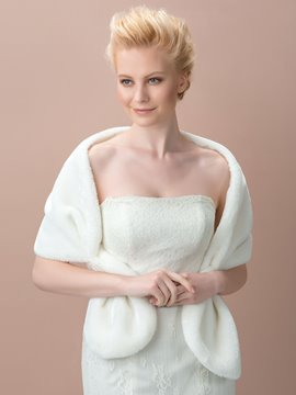 Faux Fur Wedding Jacket