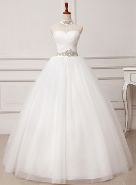 Ericdress Simple Sweetheart Beading Ball Gown Wedding Dress