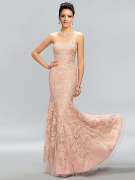 Sumptuous Strapless Mermaid Floor-Length Evening Dress