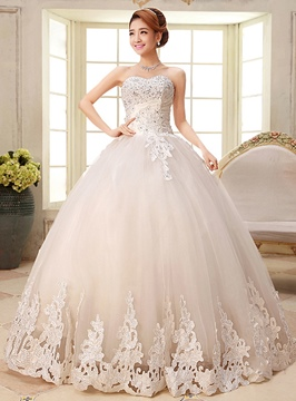Ericdress Pretty Sweetheart Appliques Ball Gown Wedding Dress