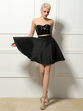 Glamorous Sweetheart A-Line Short Cocktail Dress