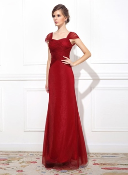 Ericdress Pretty Floor-Length Cap Sleeves Evening Dress