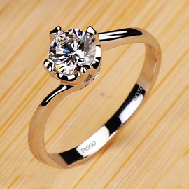 Ericdress Heart and Arrows Diamond Ring