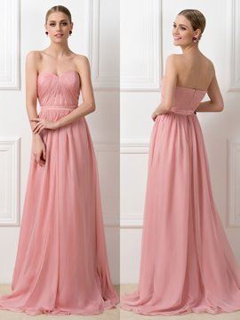 Concise Convertible Ruched Long Bridesmaid Dress