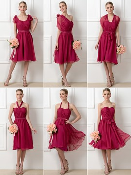 Ericdress Stylish A-Line Tea-Length Convertible Bridesmaid Dresses