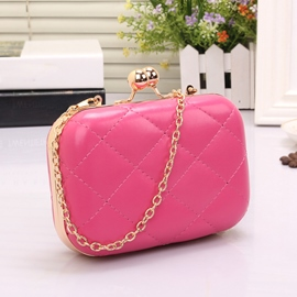 Adorable Plaid Chain Evening Bag