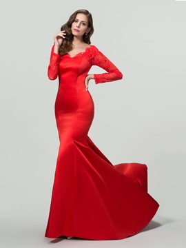 Charming V-Neck Trumpet/Mermaid Evening Dress