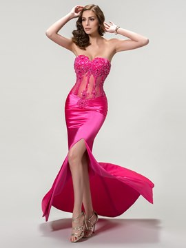 Strapless Sweetheart Neckline Mermaid/Trumpet Evening Dress