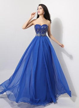 Ericdress Glittering Sweetheart A-Line Full-Length Prom Dress