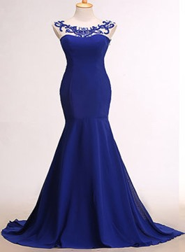 Ericdress Mermaid Sweep Train Beadings Long Evening Dress