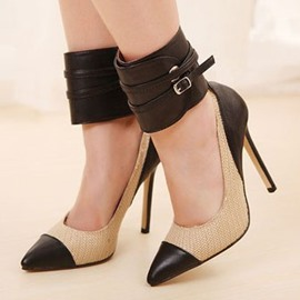 European Ankle Strap Stiletto Heels Prom Shoes