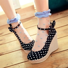 Ericdress Sweet Dots and Bowknot Wedges