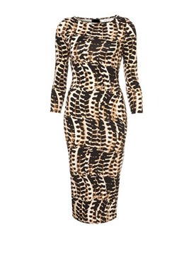 Ericdress Leopard Print Half Sleeve Sheath Dress