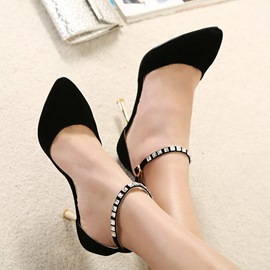 Ericdress OL Pointed-toe Rhinestone Prom Shoes