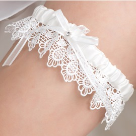 Charming Bowknot Lace Wedding Garter