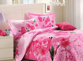 Ericdress Sweet Flower Print 4-Piece 3D Bedding Sets