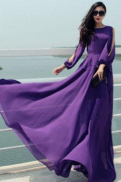 Ericdress Temperament Chiffon Maxi Dress