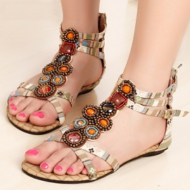 Ericdress Bohemian Sweet Clip-toe Flat Sandals