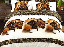 Ericdress Leopard Tiger Print 3D Bedding Sets