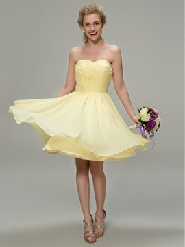 Pretty Sweetheart A-Line Knee Length Bridesmaid Dress