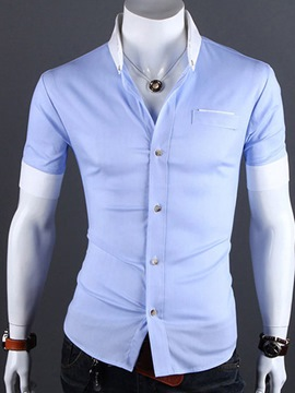 Ericdress Lapel Single-Breasted Short Sleeve Shirt