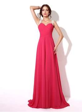 Ericdress Fantastic A-Line Sheer Back Appliques Long Evening Dress