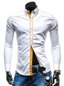 Ericdress Lapel Casual Slim Long Sleeve Shirt