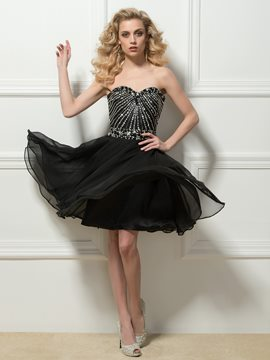 Attractive Sweetheart A-Line Beaded Short Cocktail Dress