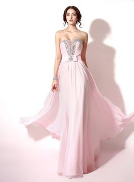 Ericdress Romantic Beaded A-Line Long Prom Dress