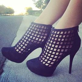 Impressive Cut-Outs Stiletto Heels Prom Shoes