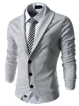 Lapel Single-Breasted Long Sleeve Cardigan