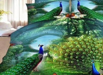 Ericdress Peacock Showing Its Tail Print 3D Bedding Sets