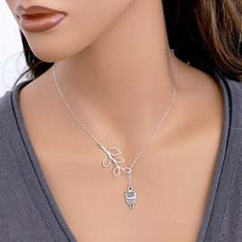 Ericdress Owl Shaped Pendant Solid Color Necklace