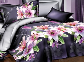 Ericdress Pure Lily Print 4-Piece 3D Bedding Sets