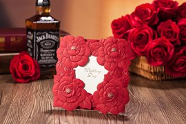 Personalized Floral Invitation Cards (20 Pieces One Set)