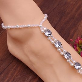 Ericdress Rhinestone Decorated Anklet